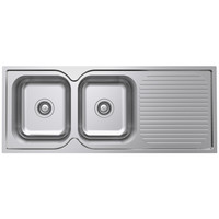 Castano Kitchen Sink Left Hand Double Bowl 1180mm Turin TUSS1180LH