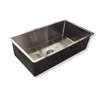 Castano Kitchen Sink Over & Under Mount Bar Stainless Steel Single Bowl 900x450x250 CBM17