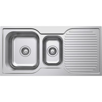 Castano Kitchen Sink 980mm 1 1/2 Double Left Hand Bowl Turin TUSS980LH