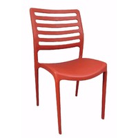 Louise Outdoor Stackable Dining  Chair Red