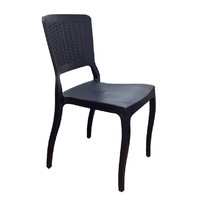 Antro Dining Chair Outdoor Stackable Plastic Black