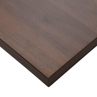 Budget Restaurant Indoor Table Top Melamine Square 600mm x 600mm Chestnut