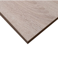 Budget Restaurant Indoor Table Top Melamine Square 600mm x 600mm Natural Oak