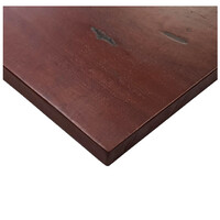 Solid Timber Table Top Restaurant Indoor Square 700mm x 700mm Red Gum