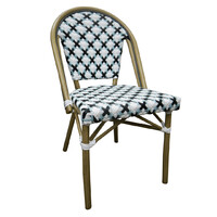 Outdoor Cafe Chair French Parisian Bistro Seating Paris Aluminium Ratten Turquoise Deco Chair