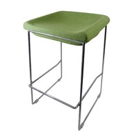 PIPPA BAR STOOL Chrome frame Linen seat 650mm Green