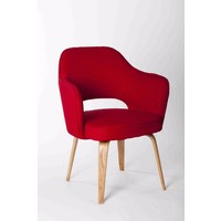 Kim Tub Visitors Office Chair Lounge Armchair Bedroom Chairs Fabric - Red