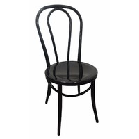 Metal Retro Dining Chair Replica Thonet No 18 Bentwood Black