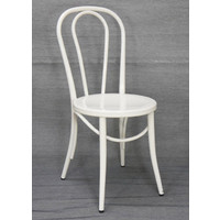 Metal Retro Dining Chair Replica Thonet No 18 Bentwood White