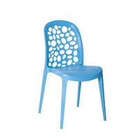Grace Cafe Chair Outdoor Stackable Dining Blue