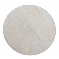 Table Top Round Outdoor 700mm Commercial Furniture Marble Look Travertine