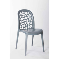 Grace Bar Pub Chair Outdoor Stackable Dining Grey