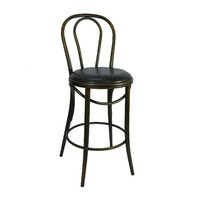 Bentwood Replica Thonet Stool Bar Seating Copper Brown Seat 65cm High