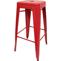 Tolix Xavier Pauchard Replica Metal Stool 750mm Red