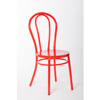 Bentwood Metal Retro Dining Chair Replica Thonet Red