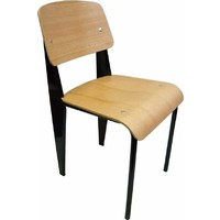 Prouve Jean Replica Standard Dining Chair Black Oak