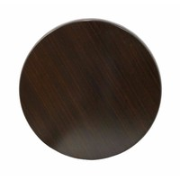 Table Top Outdoor Bistro Moulded Round 700mm Dark Walnut