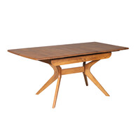 York Auto Extension Dining Table Single Panel Timber Teak 1300mm - 1625mm