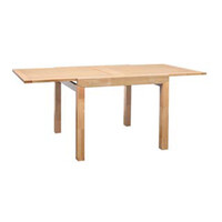 Sorrento Extension Dining Table Rectangle Timber Natural 900mm - 1800mm