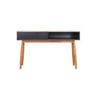 Finland Console Hall Table 1200mm 1 Drawer Retro Black Teak