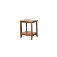 Quadrat Lamp Table 500mm Retro Timber Teak