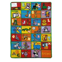 Children's Rug ABC ANIMALS  Play mat 94cm x 133cm