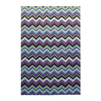 Colorscope Rugs Outdoor Anywhere Chevron Acrylic rug 2m x 2.9m Plum