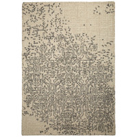 Matrix Beige Grey Modern Rugs Thick Wool Rug 200cm  x 300cm