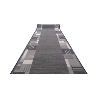 Runner Rubber Backed Hall Entrance Floor Carpet 67cm wide Montana Grey