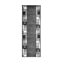 Over Locked Runner Rubber Backed Hall Entrance Floor Carpet 3m x 67cm wide Montana Grey