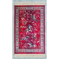 Chiraz Art Silk Carpet mat 68cm x 105cm 8471-12 red