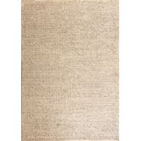 Mos Rugs Large Dasha Handwoven Wool Blend Rug Grey 240cm x 320cm