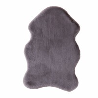 Children's Floor Rug Super Soft Polyester Grey Pony Shape Kids 60 x 90cm