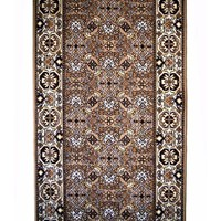 Bidjar HALL RUNNER 67cm wide Rubber Backed Hallway Carpet Brown
