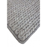 Bayliss Rugs Extra Large Rug Wool Viscose 300cm x 400cm Soul Silkworm Light Grey