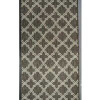Seaspray Hallway Runner Rubber Backed Hall Way Carpet 66cm wide Moroccan 9992 Brown Silver