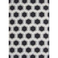 Bayliss Rugs Hive Black Hand Woven Wool 160cm x 230cm