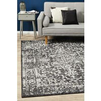Scape Charcoal Transitional Rug 240x240cm
