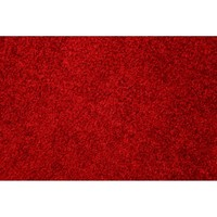 CELEBRITY Red Plush Carpet Runner 80cm(w) Rubber Backed per metre