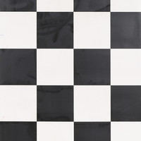 Black & White Checked Vinyl 3 metre Wide Sheet Flooring 25cm x 25cm Square
