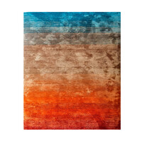 Juliet Microfibre Tufted Soft Modern Rug 190cm x 280cm Blue Brown Red Tones