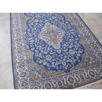 Italtex Rugs Chiraz Art Silk Hallway Carpet Runner 68cm x 230cm Blue 9099-9