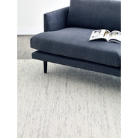 The RUG Collection Subi 100% Pure Wool Flatweave Rug 160cm x 230cm Silver Ivory