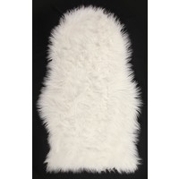 Faux Fur Sheep Skin Rug Mat Soft Acrylic Rug 55cm x 90cm Cream