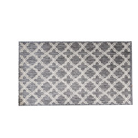 Indoor Seaspray mat 66cm x 120cm Mat Rubber Back Moroccan Silver Grey GU6