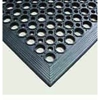 Safety Ring Industrial Rubber Mat 90cm x 150cm Wet Area with Large Drain Holes