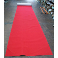 Entertainment Flooring Runner Mat 200cm Wide Expo Rib Red Carpet