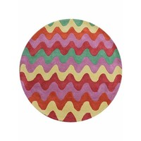 The RUG Collection Children's Cotton Rug 120cm round Gelato Pink