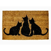 3 Cats Door Mat Entrance Mats Doormat 45cm x 75cm