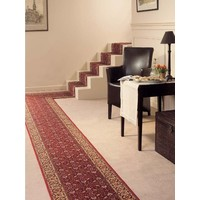 Bidjar Hall Runner 67cm wide Hallway Rubber Back Carpet Red